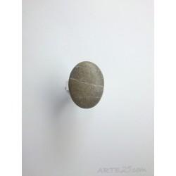 Anillo con Piedra Gris con Vetas Blancas