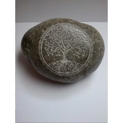 Piedra Decorativa con Arbol de la Vida