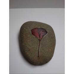 Piedra Decorativa con Flor Roja c7116ee2258