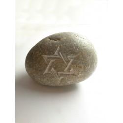 Piedra Decorativa con Estrella de David